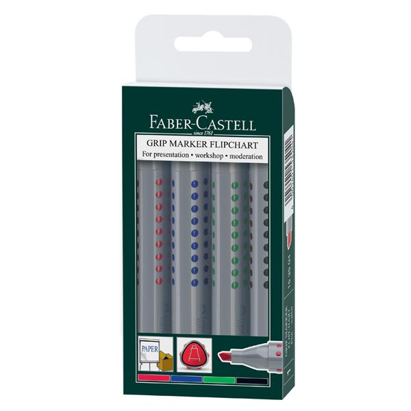 faber castell grip flipchart chisel tip 4  pack  the pen